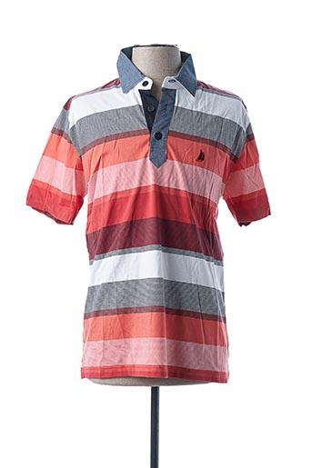 Polo manches courtes orange TBS pour homme