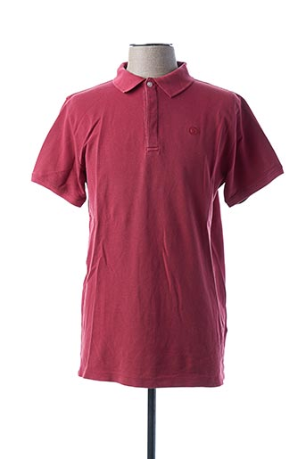 Polo manches courtes rose SERGE BLANCO pour homme