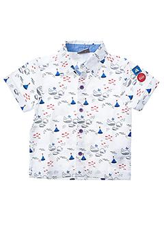 Chemise manches courtes blanc LOSAN pour garçon