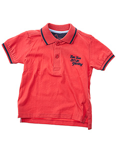 Polo manches courtes rouge LOSAN pour garçon