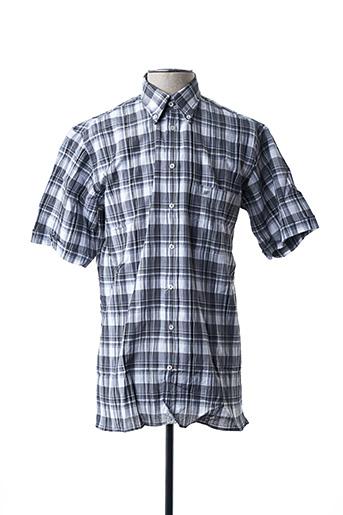 Chemise manches courtes gris JEAN CHATEL pour homme