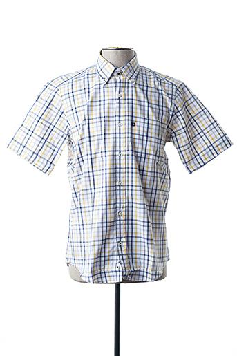 Chemise manches courtes jaune BLUSALINA pour homme