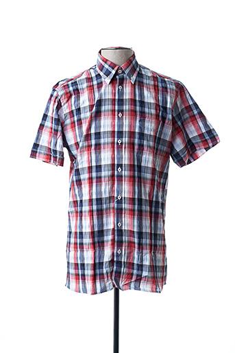 Chemise manches courtes rouge CHATEL pour homme