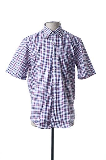 Chemise manches courtes violet BLUSALINA pour homme