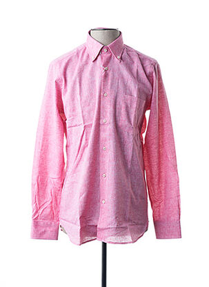 Chemise manches longues rose BLUSALINA pour homme