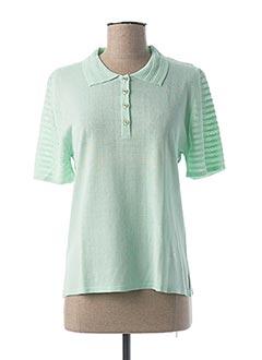 Pull col chemisier vert MINO MORA pour femme