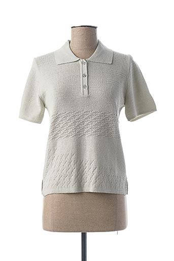 Pull col chemisier gris I.ODENA pour femme