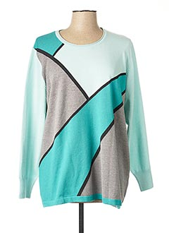 Pull col rond bleu RABE pour femme
