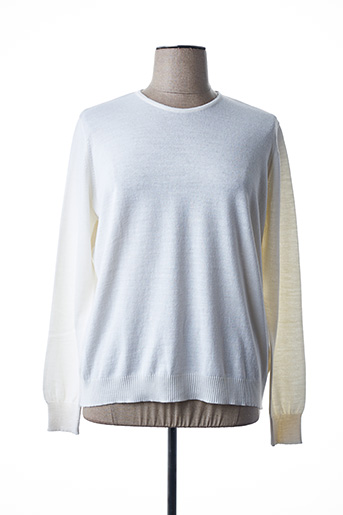 Pull col rond beige I.ODENA pour femme