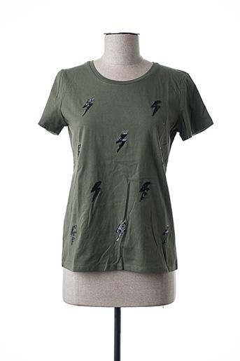 T-shirt manches courtes vert DAPHNEA pour femme