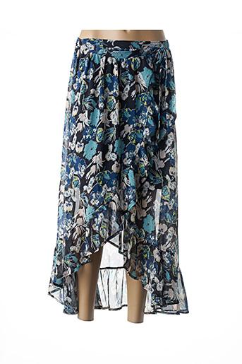 Jupe longue bleu GRACE & MILA pour femme