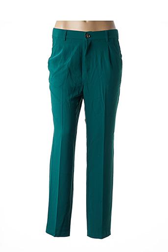 Pantalon casual vert GRACE & MILA pour femme