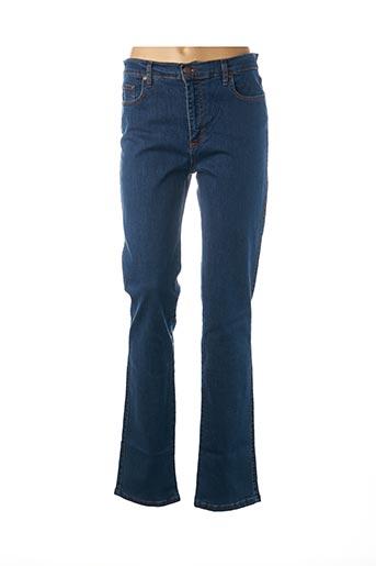 Jeans coupe slim bleu CRN-F3 pour femme