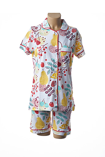 Pyjashort jaune ROSE POMME pour femme