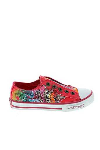 Baskets rouge ED HARDY pour fille