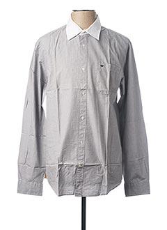Chemise manches longues gris VICOMTE ARTHUR pour homme
