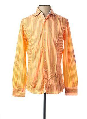 Chemise manches longues orange HACKETT pour homme