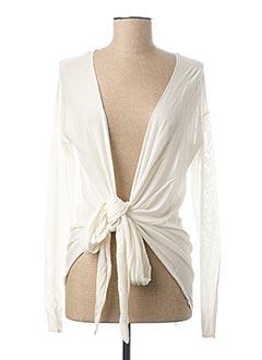 Gilet manches longues blanc HUGO BOSS pour femme