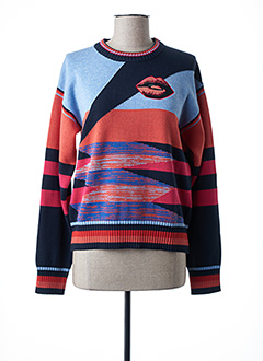 Pull col rond orange PAUL SMITH pour femme
