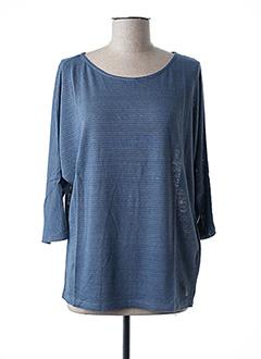 T-shirt manches longues bleu BELLEROSE pour femme