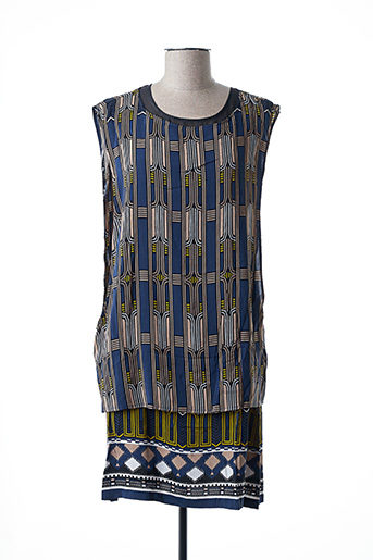 Robe mi-longue bleu ALYSI pour femme