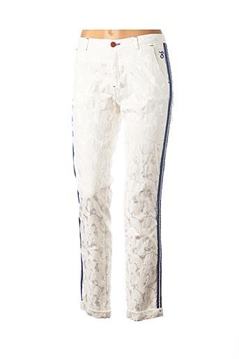Pantalon 7/8 blanc BARB'ONE pour femme