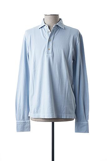 Polo manches longues bleu CIRCOLO 1901 pour homme