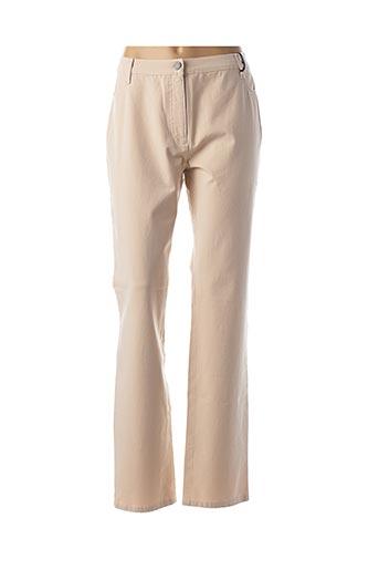 Pantalon casual beige BETTY BARCLAY pour femme