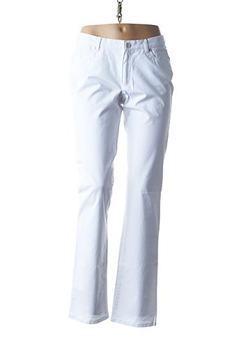 Pantalon casual blanc EUGEN KLEIN pour femme
