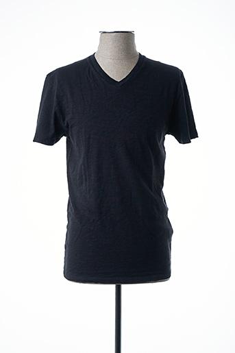 T-shirt manches courtes noir AMERICAN VINTAGE pour homme
