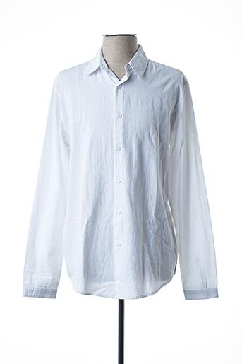 Chemise manches longues blanc AMERICAN VINTAGE pour homme