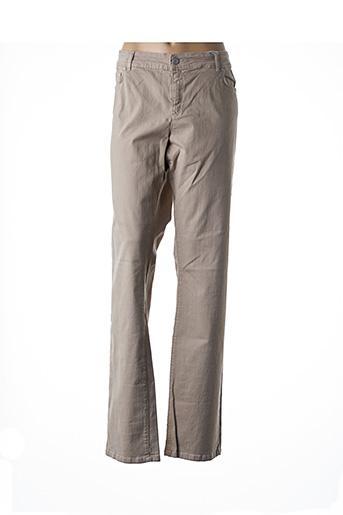 Jeans coupe slim beige MARINA RINALDI pour femme