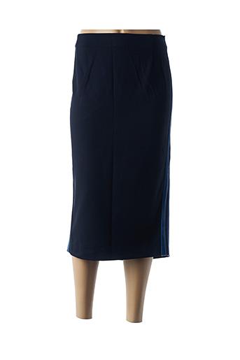 Jupe mi-longue bleu MARINA RINALDI pour femme