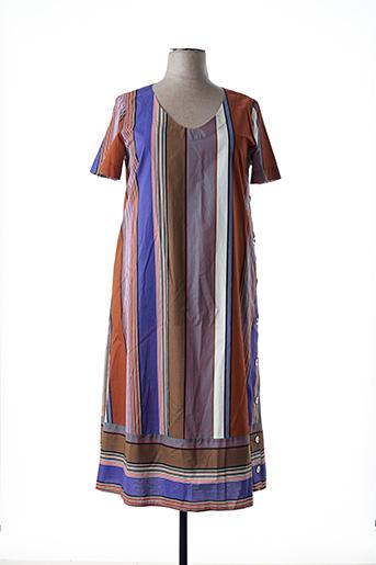Robe mi-longue violet MARINA RINALDI pour femme