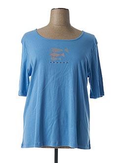 T-shirt manches courtes bleu THALASSA pour femme