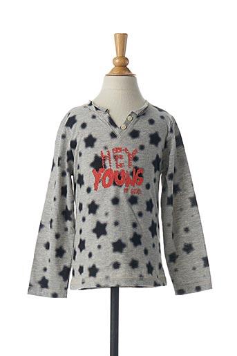 T-shirt manches longues gris 3 POMMES pour fille