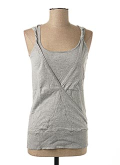 Pull col rond gris ONLY pour femme