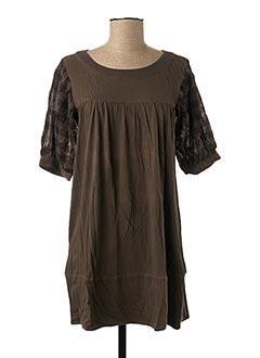 Robe courte marron ONLY pour femme