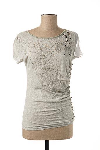 T-shirt manches courtes gris CHILLI COUTURE pour femme