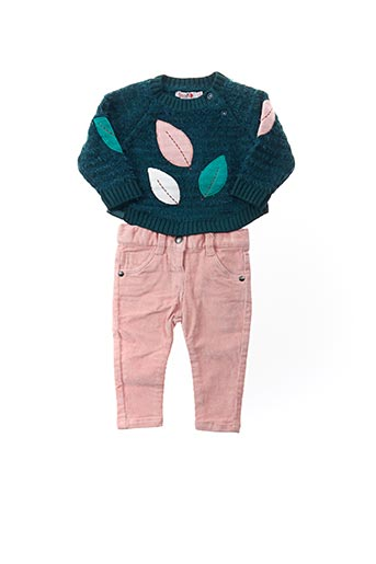 Pull/pantalon bleu BOBOLI pour fille