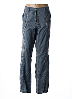 Pantalon casual gris FLEUR DE SEL pour femme