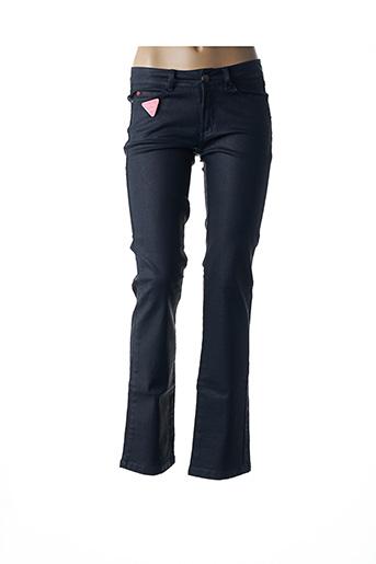 Jeans coupe droite bleu I.CODE (By IKKS) pour femme