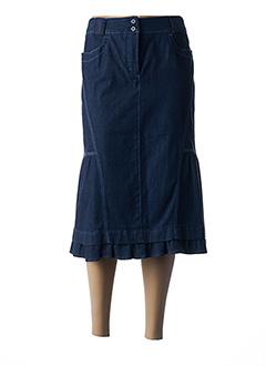 Jupe mi-longue bleu BLEU DE SYM pour femme