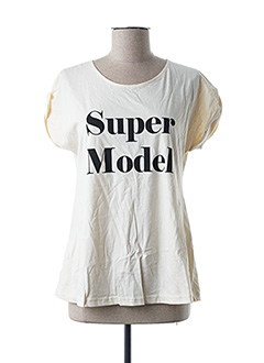 T-shirt manches courtes beige COMPAÑIA FANTASTICA pour femme