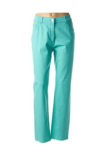 Pantalon casual bleu EAST DRIVE pour femme