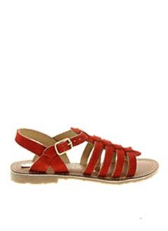 Sandales/Nu pieds rouge L'ATELIER TROPÉZIEN pour fille