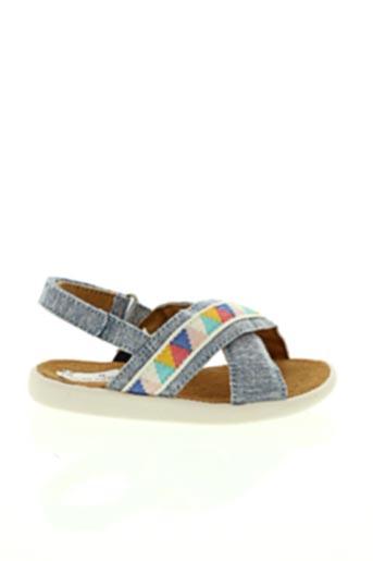 Sandales/Nu pieds bleu TOMS pour fille