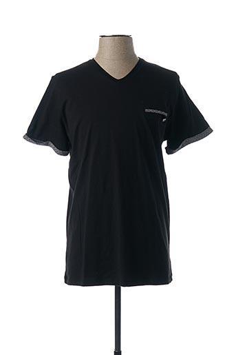 T-shirt manches courtes noir BENSON & CHERRY pour homme