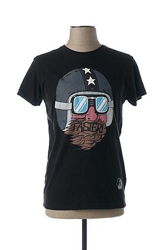 T-shirt manches courtes noir RECYCLED ART WORLD pour homme