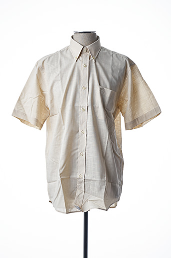 Chemise manches courtes beige ARMORIAL pour homme